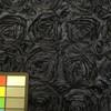 3 Yard Piece of Navy Floral Textured Satin