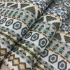 """Seminole in color Treasure   Geometric Stripes   Blue / Brown / White   Heavyweight Upholstery / Slipcover Fabric   Jacquard   54"""" Wide   By the Yard"""