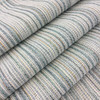 """Variegated Stripes Light Blue / White / Yellow   Richloom   Upholstery / Drapery Fabric    54"""" Wide   By the Yard   Durable"""