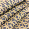 """Modern Geometric Jaquard Golden Brown and Grey 