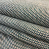 """Teal Blue and Beige Basketweave   Heavyweight Upholstery Fabric    54"""" Wide   By the Yard   Durable"""