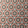 5 Yard Piece of Decorative Floral Red / Brown / White | Home Decor Fabric | Robert Allen | 54 W