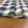 """Checked Plaid in Blue and White  
