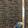 "Kuba in Saddle   Jacquard Upholstery Fabric   Maze Geometric in Tan / Brown   54"" Wide   By the Yard"