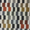 """Dahra in Caviar   Jacquard Upholstery Fabric   Color-blocked Ikat in Beige, Gray, Orange, Brown   54"""" Wide   By the Yard"""