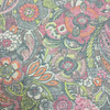 """Mystic Charm in Color Sherbert   Floral   Pink / Green   Upholstery / Heavy Drapery Fabric   54"""" Wide   By the Yard"""