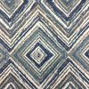 """Fresco in Navy   Jacquard Upholstery Fabric   Contemporary Diamonds in Blue, Teal, and White   Heavyweight   54"""" Wide   By the Yard"""