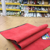 """Red Microsuede Automotive Headliner   Foam-Backed   1/4"""" Thick   54"""" Wide   Bag Stabilizer / Sew Foam   By the Yard"""