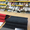 """Black Perforated Microfiber Automotive Headliner -  Foam-Backed 