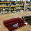 """Deep Red Velvet Automotive Headliner - Foam-Backed 