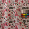 """5 Yard Piece of Pink Gray White Floral Knit Fleece Lined Fabric By The Yard 54""""W Stretch Vest"""