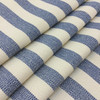 """Horizontal Stripes in Ocean Blue and Cream 