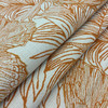 """Papillon in Bitter   Butterflies   Orange / White   Heavyweight Upholstery / Slipcover Fabric   Jacquard   54"""" Wide   By the Yard"""