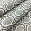 """Proximity in color Cafe   Ogee Ikat in Taupe / Beige / Bronze   Heavyweight Upholstery / Slipcover Fabric   Jacquard   54"""" Wide   By the Yard"""