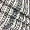 """Textural Stripes in Navy Blue and Cream 