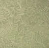 6.33 Yard Piece of Tropical Floral Leaf Fabric Green with White Stencil Designer Upholstery 54W