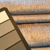 """3.875 Yard Piece of Silver Grey Microfiber   Parkwood in Linen by Richloom   Upholstery / Slipcover Fabric   54"""" Wide   By the Yard"""