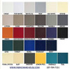 1.625 Yard Piece of Seaquest Smoke Gray Marine Vinyl Upholstery Fabric
