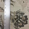 1 Yard Piece of Jacobean Floral in Beige / Brown / Tan   Upholstery Fabric   57 W   By the Yard
