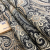 """Trophy Room in Teak   Traditional Paisley in Black and Tan   Upholstery / Drapery Fabric   P/Kaufmann   54"""" Wide   By the Yard"""