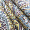 """Timeless Paisley in Peacock   Traditional Paisley in Yellow / Blue / Brown   Upholstery / Drapery Fabric   P/Kaufmann   54"""" Wide   By the Yard"""