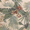 """1.55 Yard Piece of Tropical Floral Green / Red / Beige 
