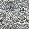 """Winchester in Midnight   Ikat in Black / Blue-Grey / Taupe   Upholstery / Drapery Fabric   Magnolia Home Designs   54"""" Wide   By the Yard"""