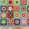 """Retro Floral in Blue / Green / Red / Orange / Pink 