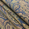 """Paisley in Brown and Blue   Home Decor / Drapery Fabric   60"""" Wide   By the Yard"""