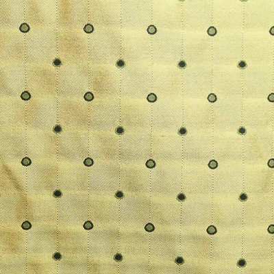 """Gold Brown Check Twill Polka Dot Upholstery Drapery Fabric By The Yard 54""""W"""
