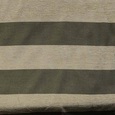 Chenille Stripe Fabric In Olive Green Plush Tan Wide Striped Fabric By The Yard