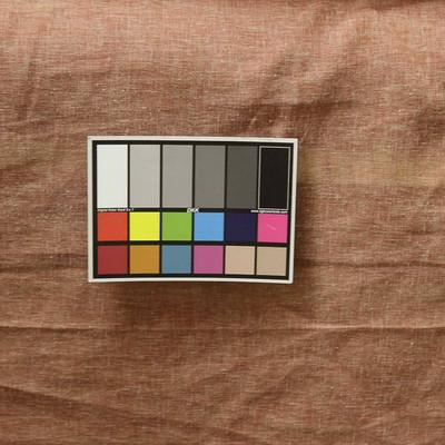 "Sheer Red w/ Tan Mottled Slub Drapery Fabric By The Yard 54"""