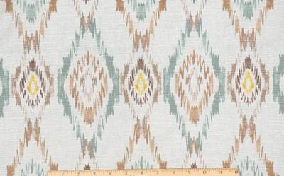 "Millcreek Sosie Embassy in Aqua 54"" Drapery & Curtain Fabric By The Yard"