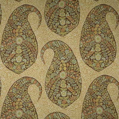 Mosaic Paisley In Natural Glazes Printed Drapery & Curtain Fabric By The Yard