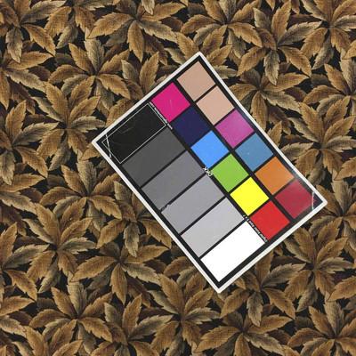 Mill Creek Screen Print Brown Black Leaf Drapery & Curtain Fabric By The Yard