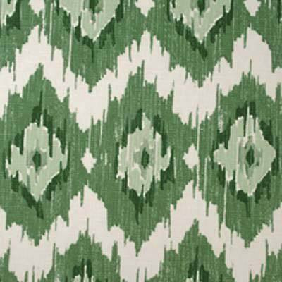 Duralee Fabric In Green 20991-2 | Ethnic Flame Stitch/Kilim Green Cotton Fabric