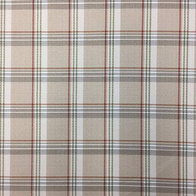 """Retro Beige Plaid Upholstery  Drapery Fabric 
