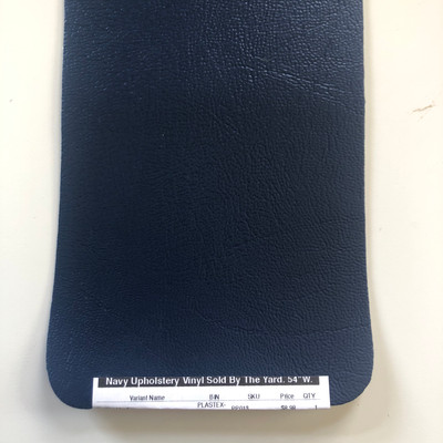 """Navy Upholstery Vinyl Sold By The Yard.   54""""W."""