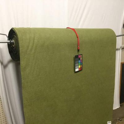Olive Green Plush Boucle Upholstery Fabric   Xtra Heavy Duty   Felt Backed