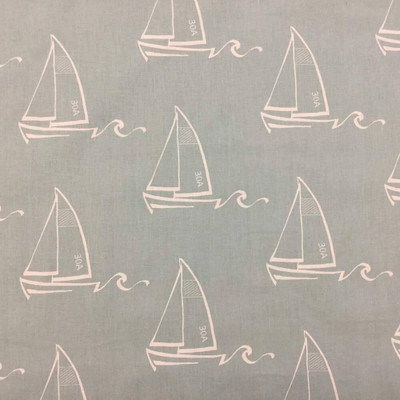 Sailboat Drawing Outdoor Fabric Nautical / Beach Themed Fabric | Upholstery Drapery