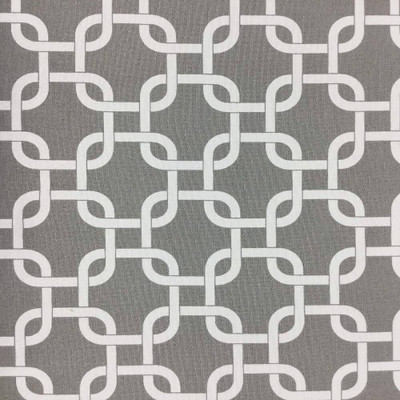 """Gray and White Geometric Printed Upholstery / Drapery Fabric   BTY   54""""W"""