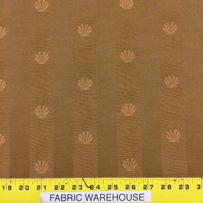 """Brown Seashell with Two-toned Stripes Upholster Fabric 