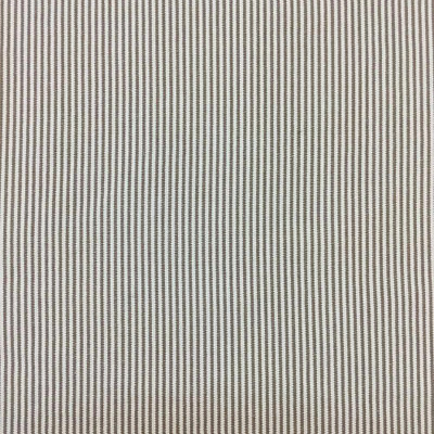 Westeon Tobacco Ticking Strip in Bown / Tan | SM240 | | Upholstery Fabric