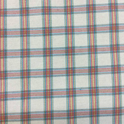 """Vintage Plaid in Tan, Red, and Green Upholstery Fabric 
