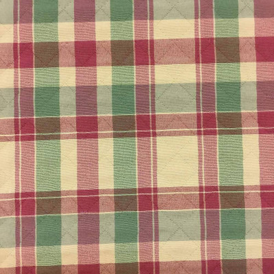 """Traditional Plaid with Pre-quilted Diamonds Upholstery Fabric   54""""W   BTY"""