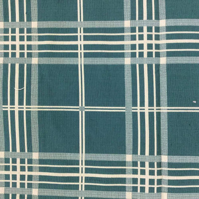 """Windowpane Plaid in Green and Tan Upholstery Fabric 