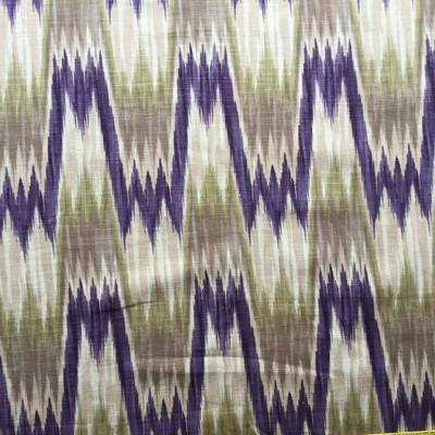 Wavy Faux Ikat Upholstery / Drapery Fabric | 54 wide | By the Yard | Linen-like