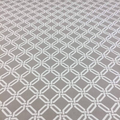 Geometric Lattice in Taupe Upholstery / Drapery Fabric | Braemore | 54 W | BTY
