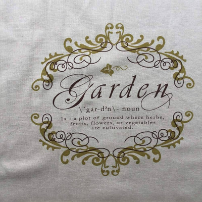 Garden Defined on Natural Woven Upholstery / Drapery Fabric | 54 W | By the Yard