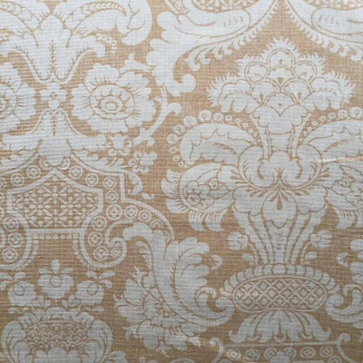 Two-toned Butterscotch Damask Upholstery / Drapery Fabric | 54 W | By the Yard